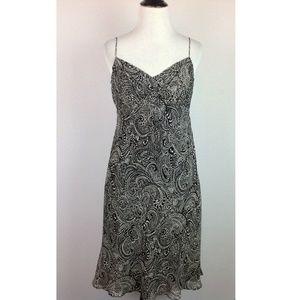 Ann Taylor Slip Dress Womens 4P Petite Silk